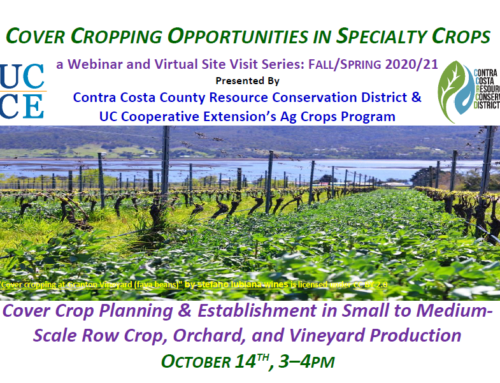 UCCE Cover Cropping Series Webinars
